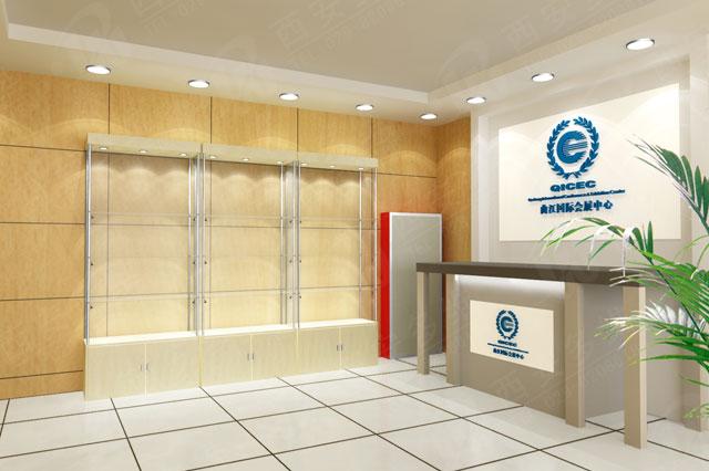 曲江会展中心形象墙展厅设计制作