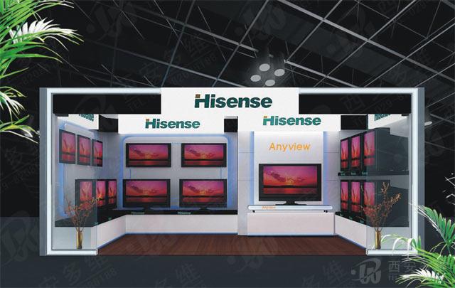 海信电视新标准展台效果图_设计分享